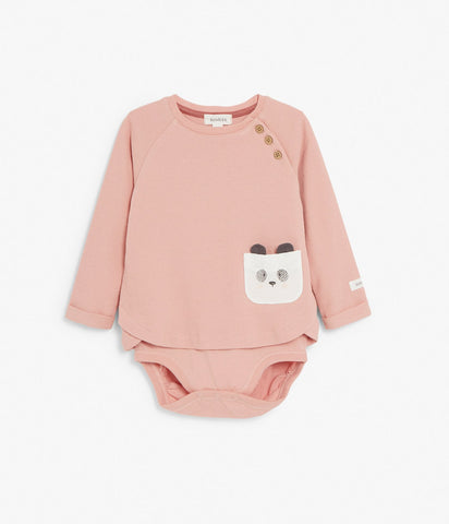 Baby body with long sleeves