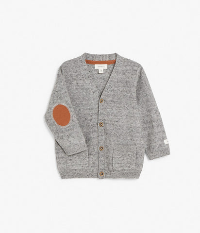 Baby cardigan with elbow patches