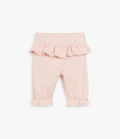 Baby tights with ruffles