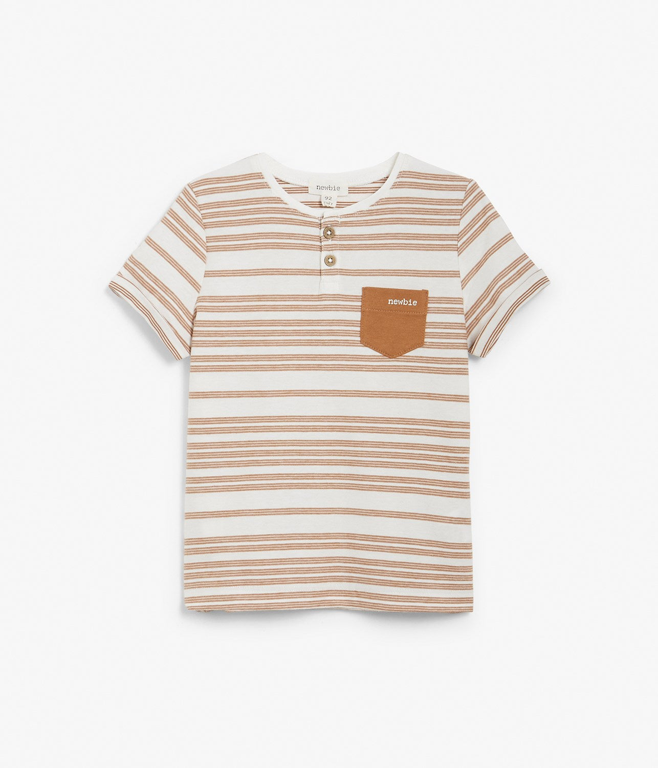 Kids brown striped t-shirt