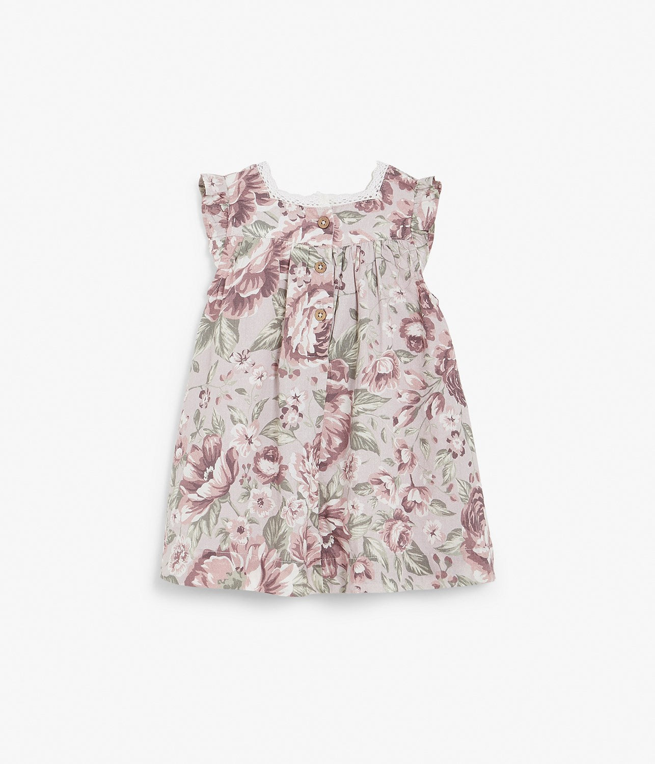 Baby floral print dress with lace
