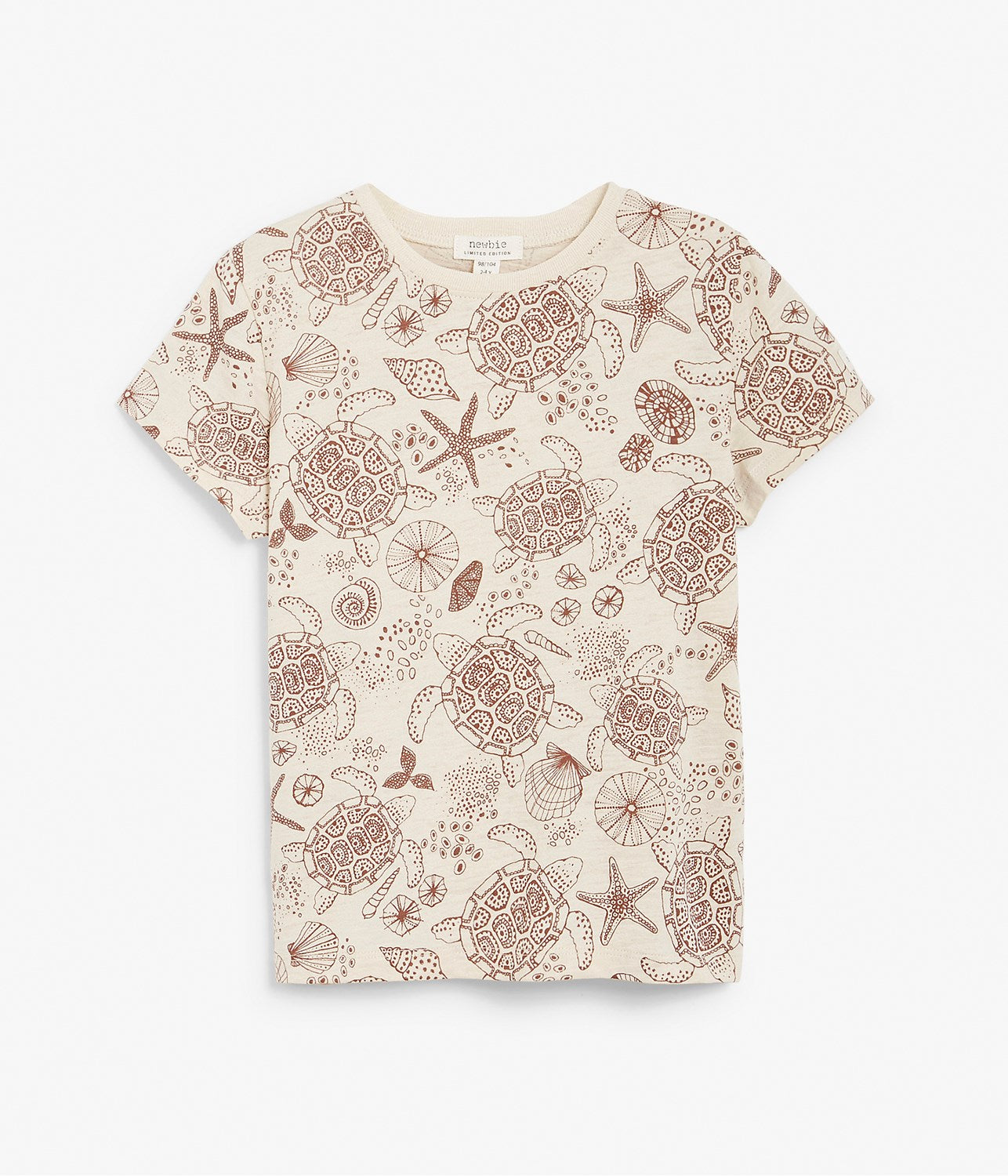 Kids turtle and shell printed t-shirt