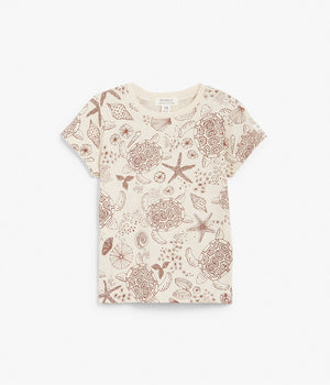 Baby turtle and shell printed t-shirt
