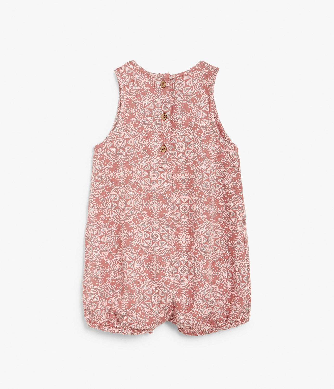 Baby red patterned onesie