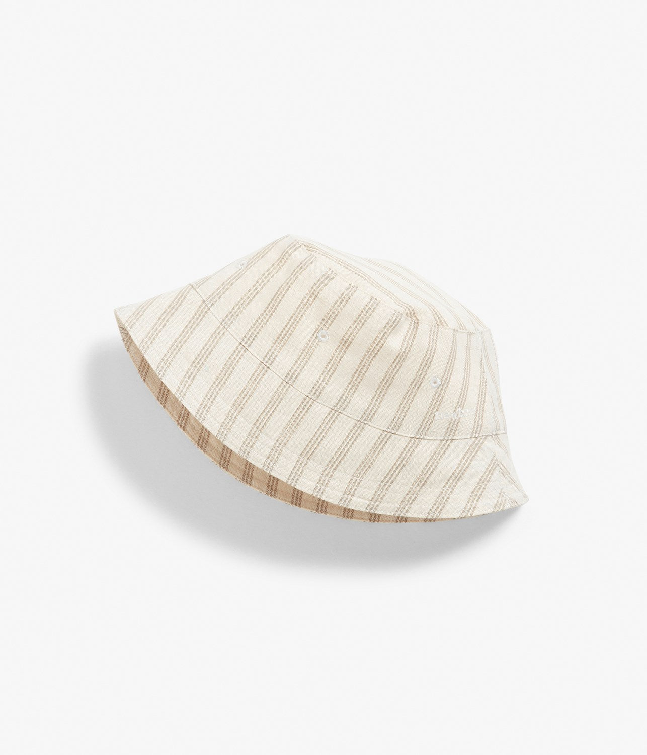 Baby striped linen bucket hat