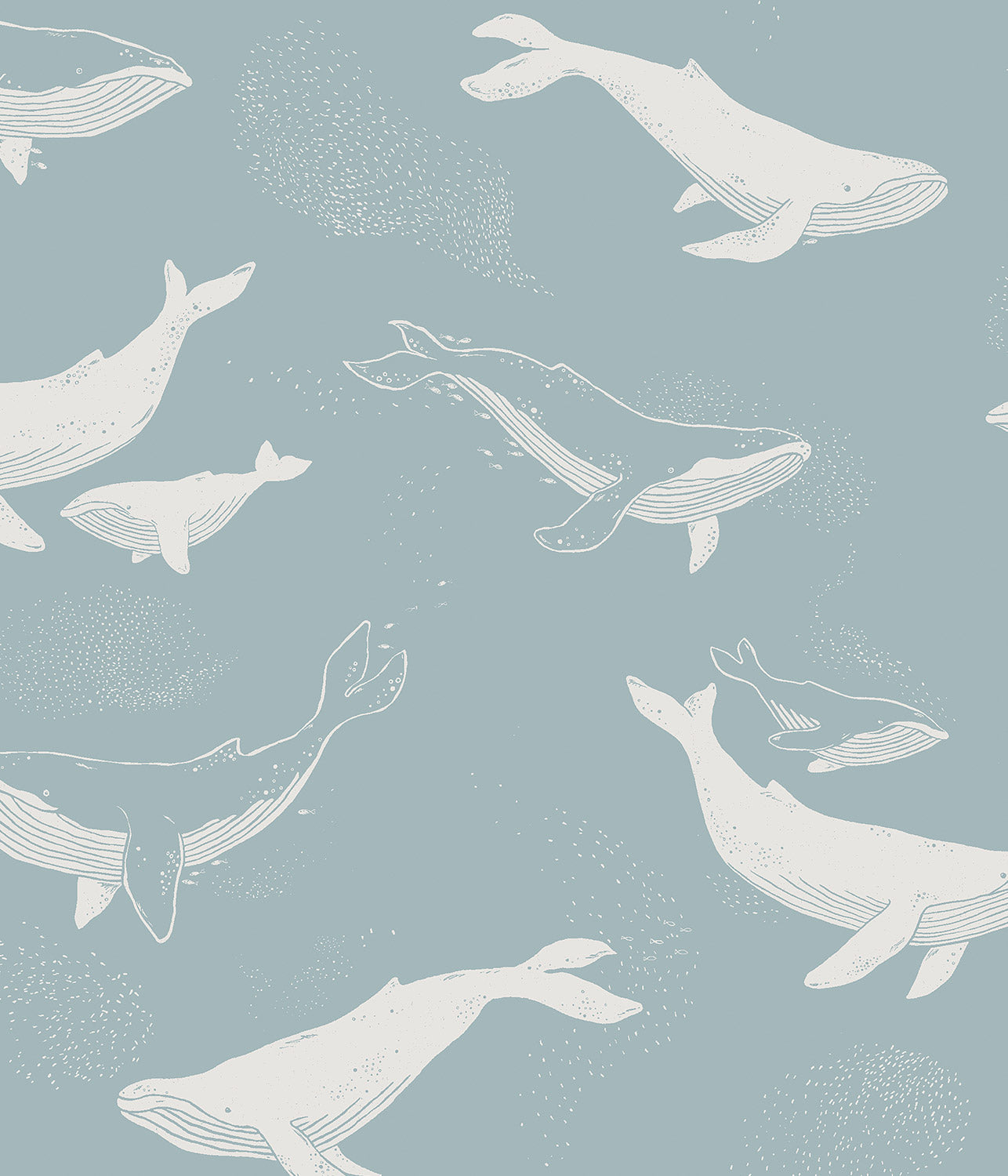 Whales blue wallpaper