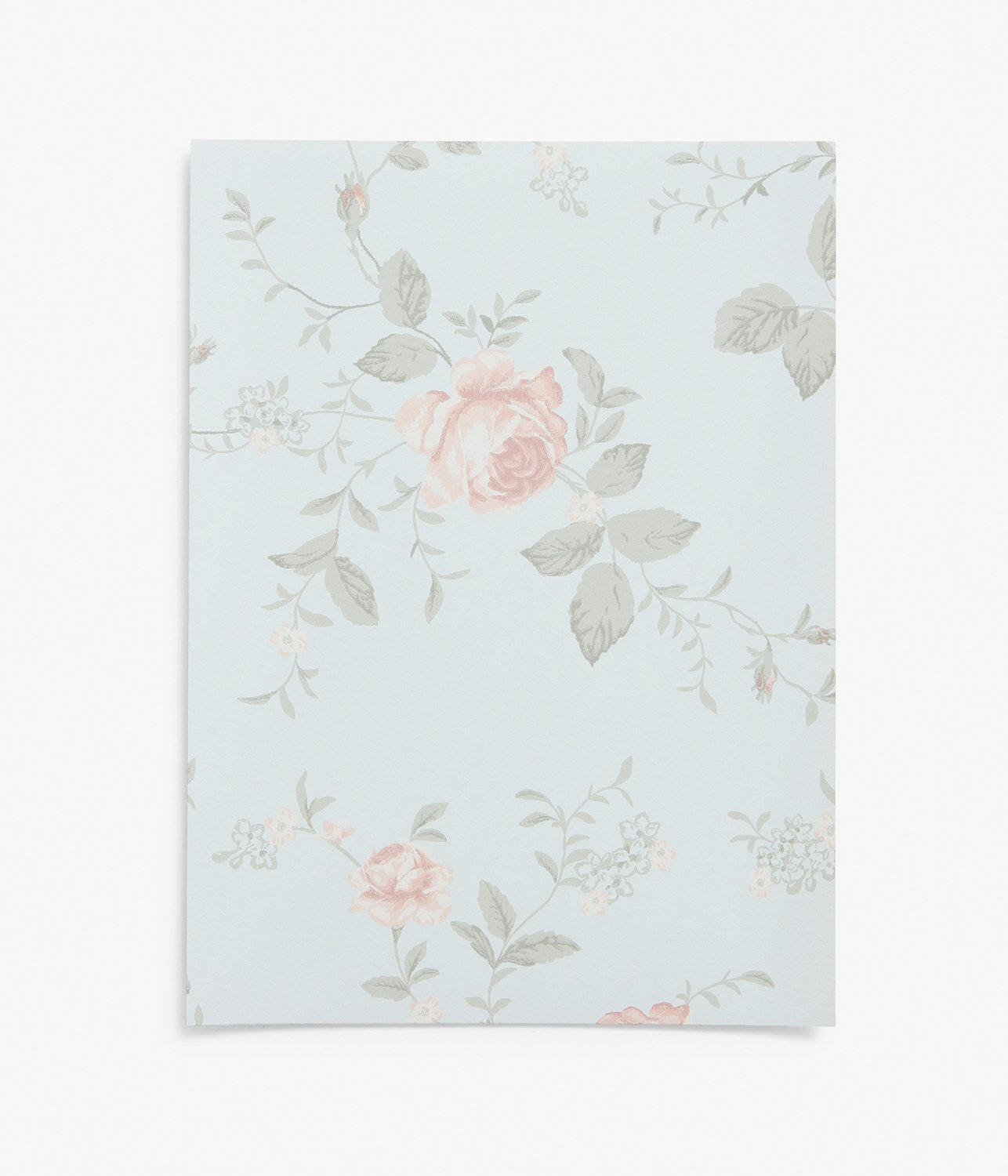 Rose Garden blue wallpaper sample