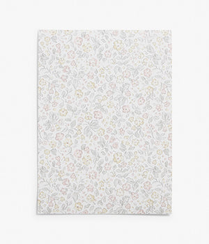 Jasmine white floral wallpaper sample