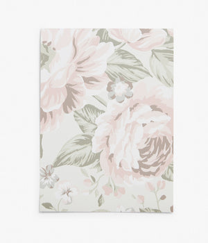 Rosie white floral wallpaper sample