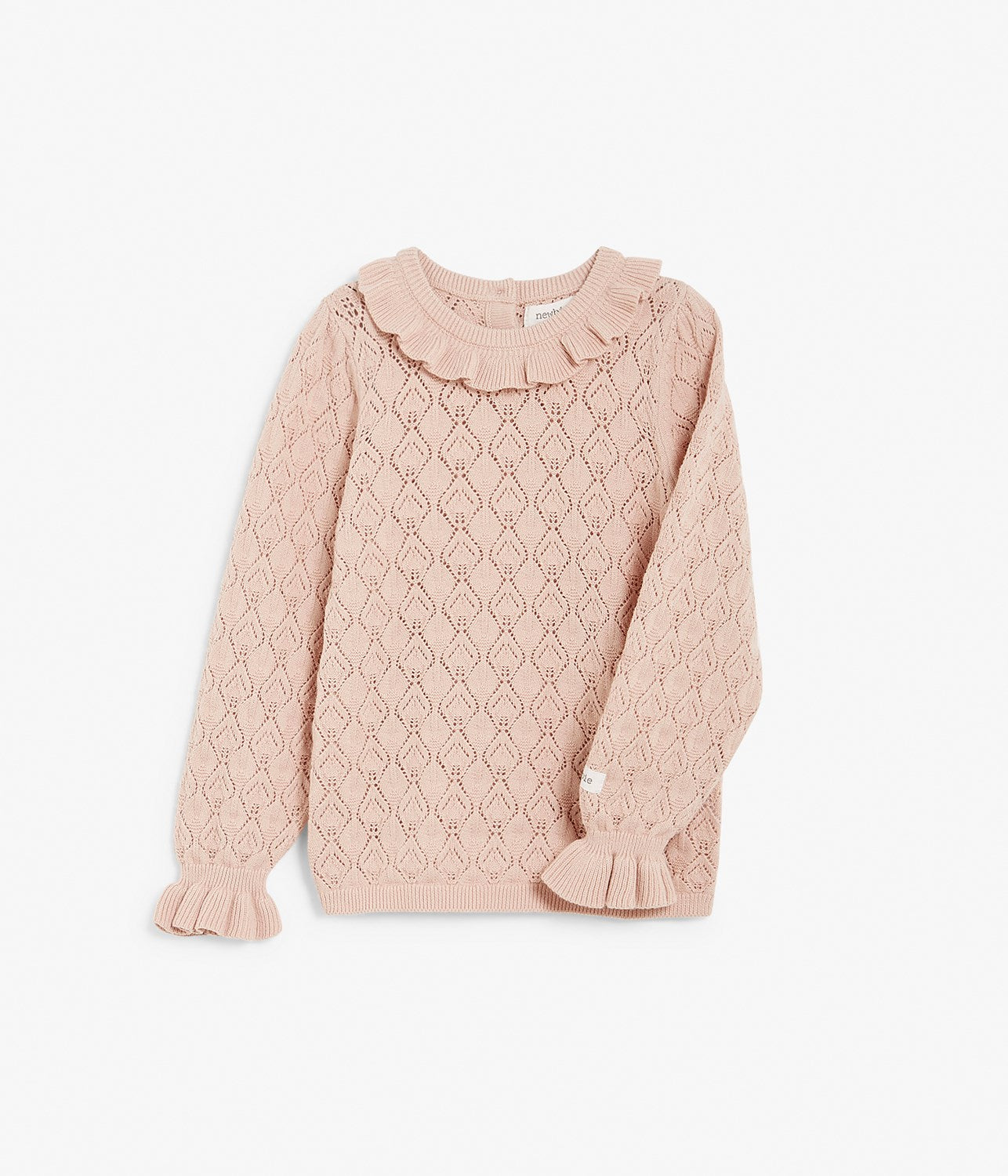 Kids pattern knit top with ruffles