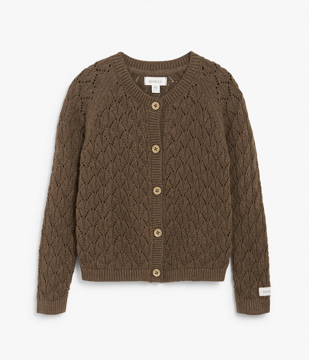 Kids brown knitted cardigan