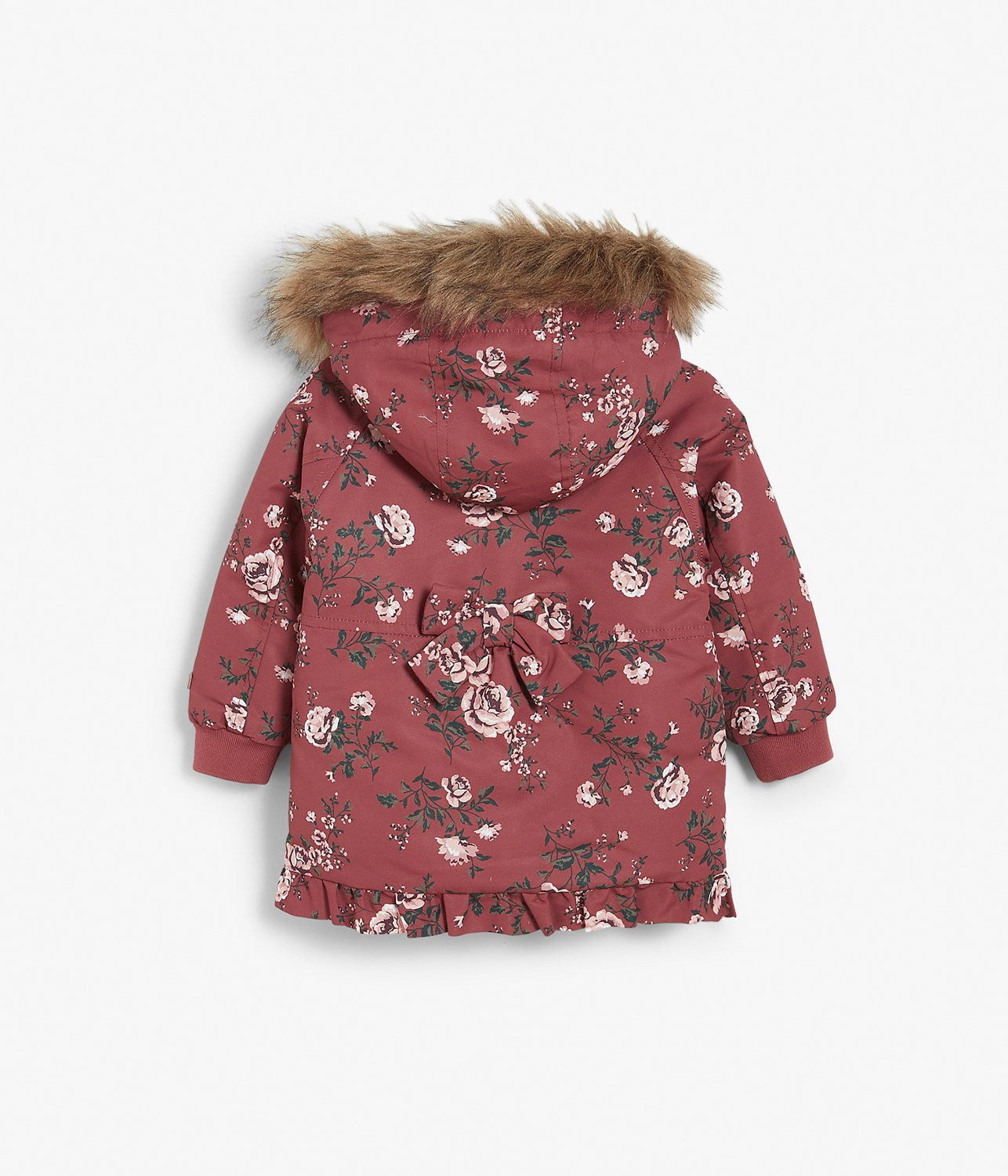 Baby rose floral print jacket with hood