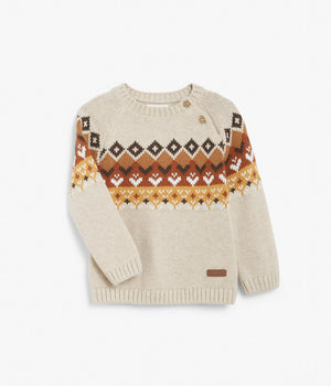 Baby printed knit sweater