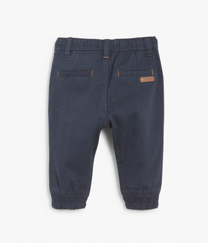 Baby navy drawstring trousers