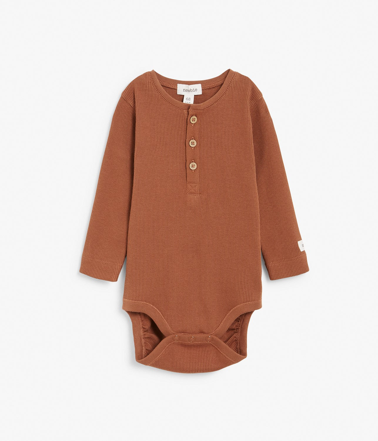 Baby rust ribbed basic body