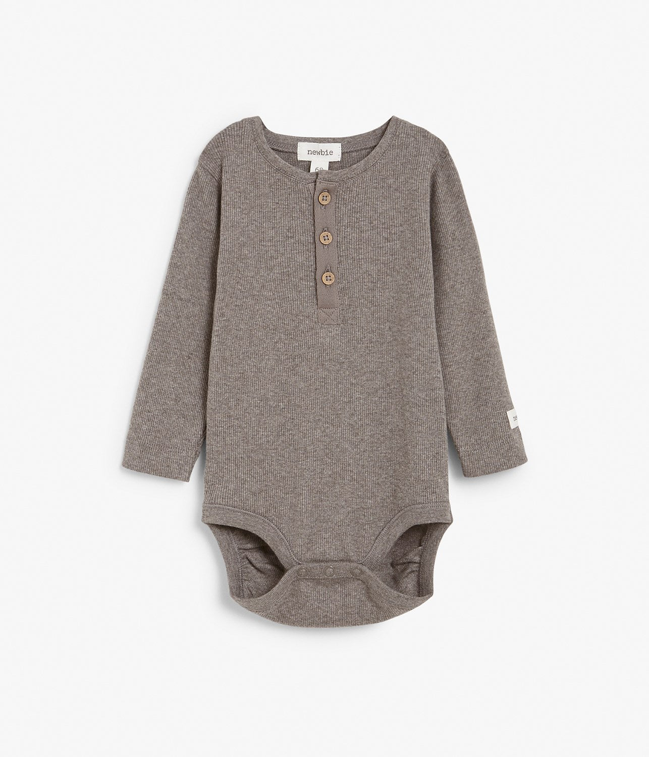 Baby brown ribbed basic body