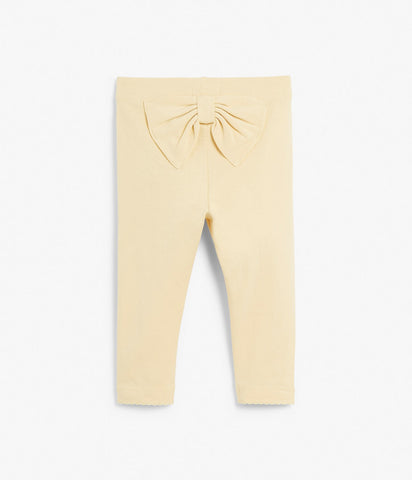 Baby leggings with bow