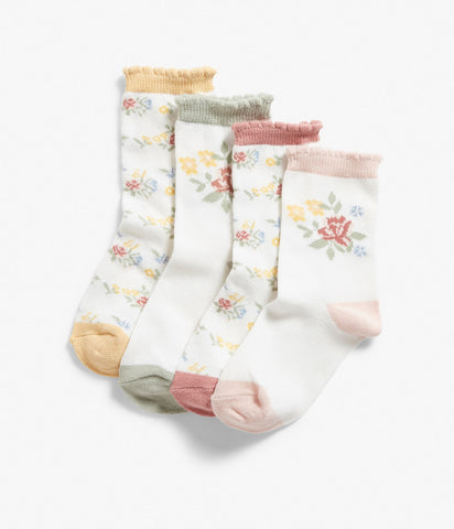 Kids rose floral socks set