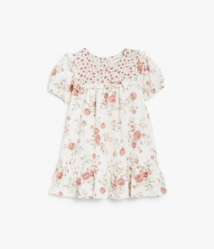 Baby red floral print dress