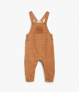 Baby brown corduroy overalls