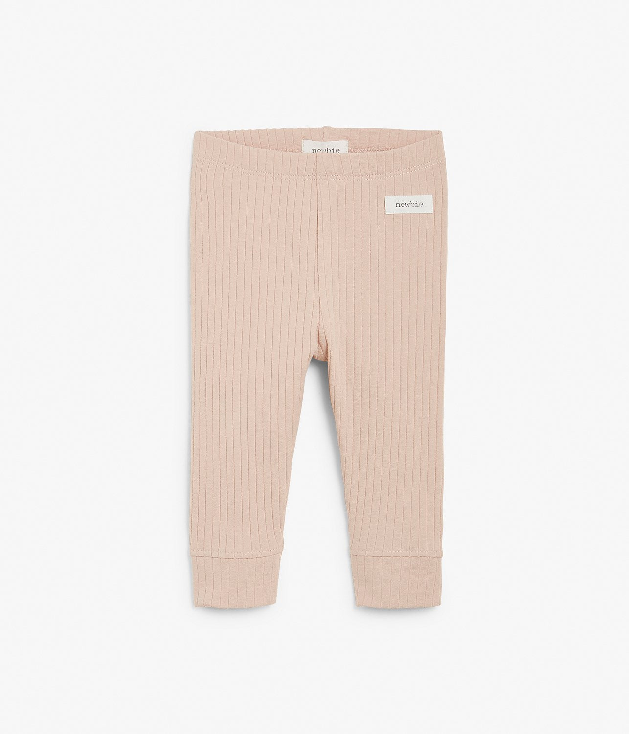 Baby ribbed pink leggings