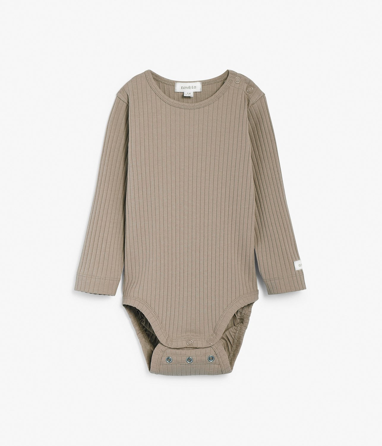 Baby beige ribbed body with size extender
