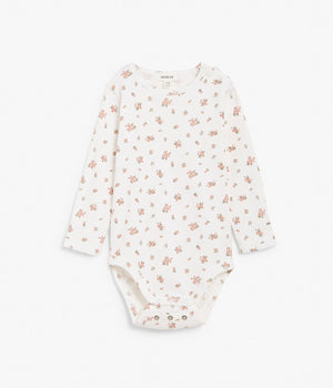 Baby pink floral print extender body