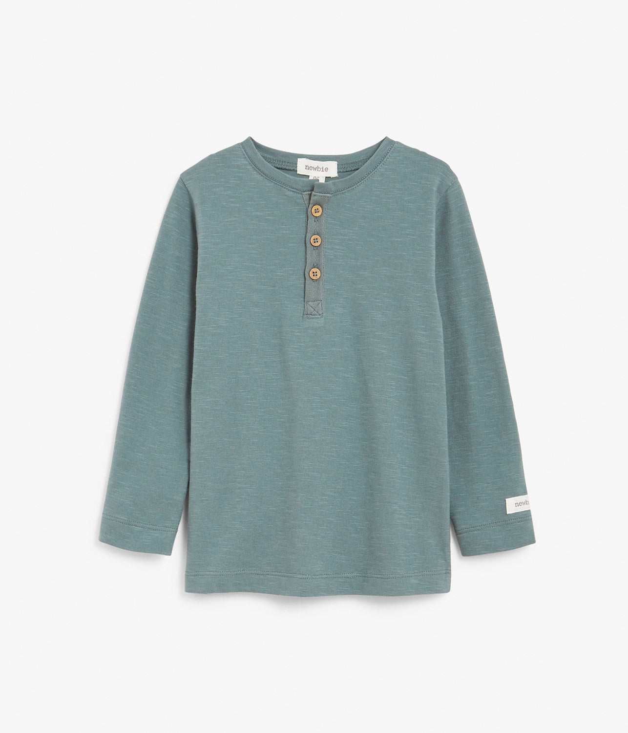 Kids teal basic long sleeve top