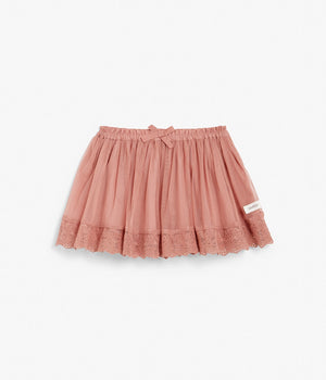 Kids tulle skirt with lace