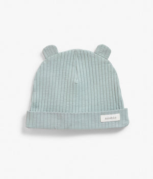 Baby ribbed blue soft hat