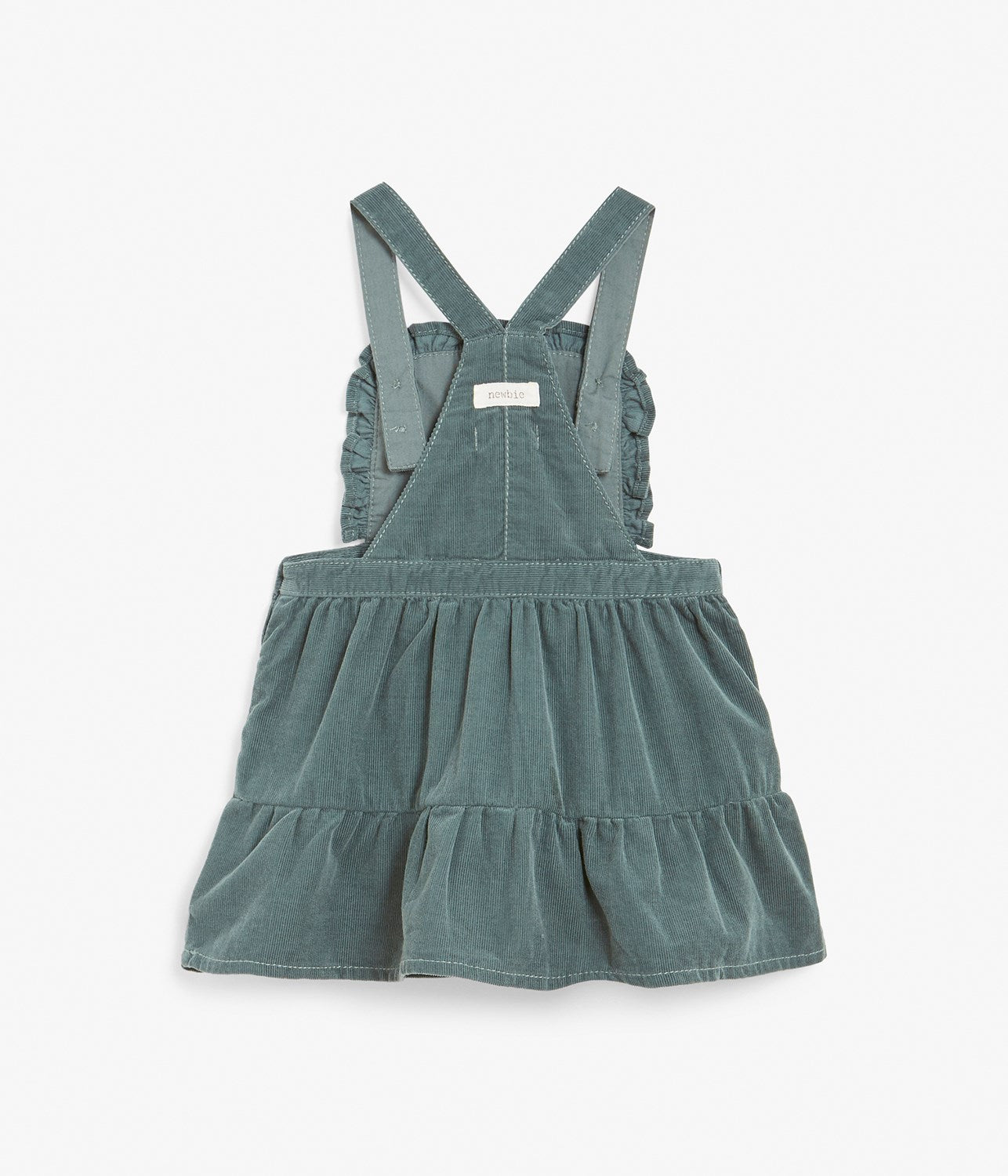 Baby green corduroy pinafore dress