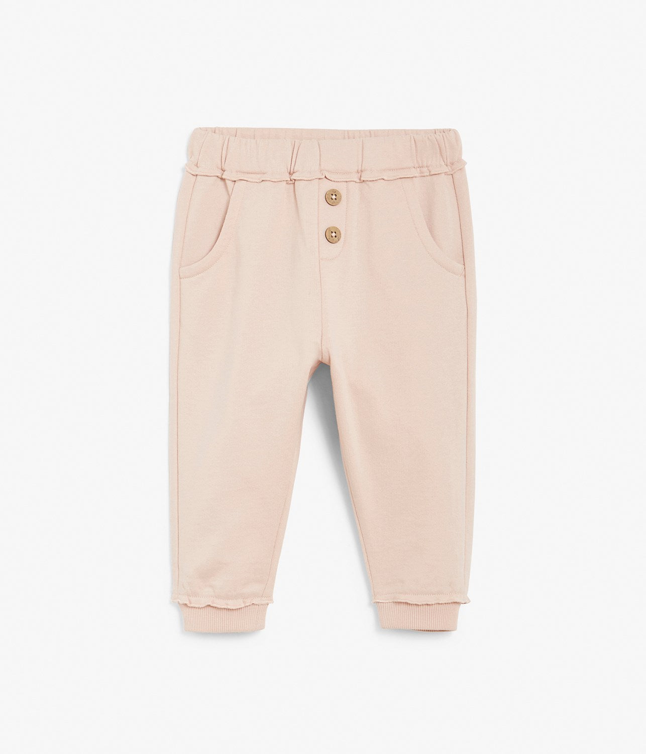 Baby pink sweatpants with mini frills