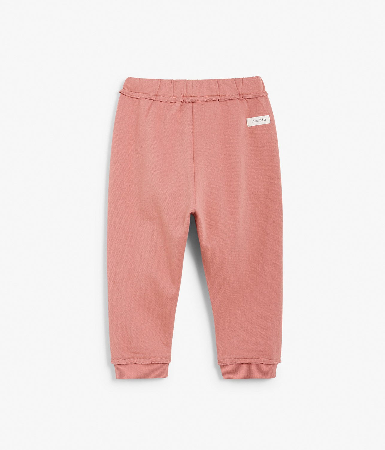 Baby pink sweatpants with ruffle details
