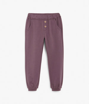 Kids purple basic sweatpants