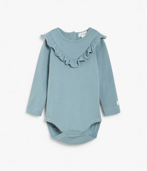 Baby blue body with ruffles