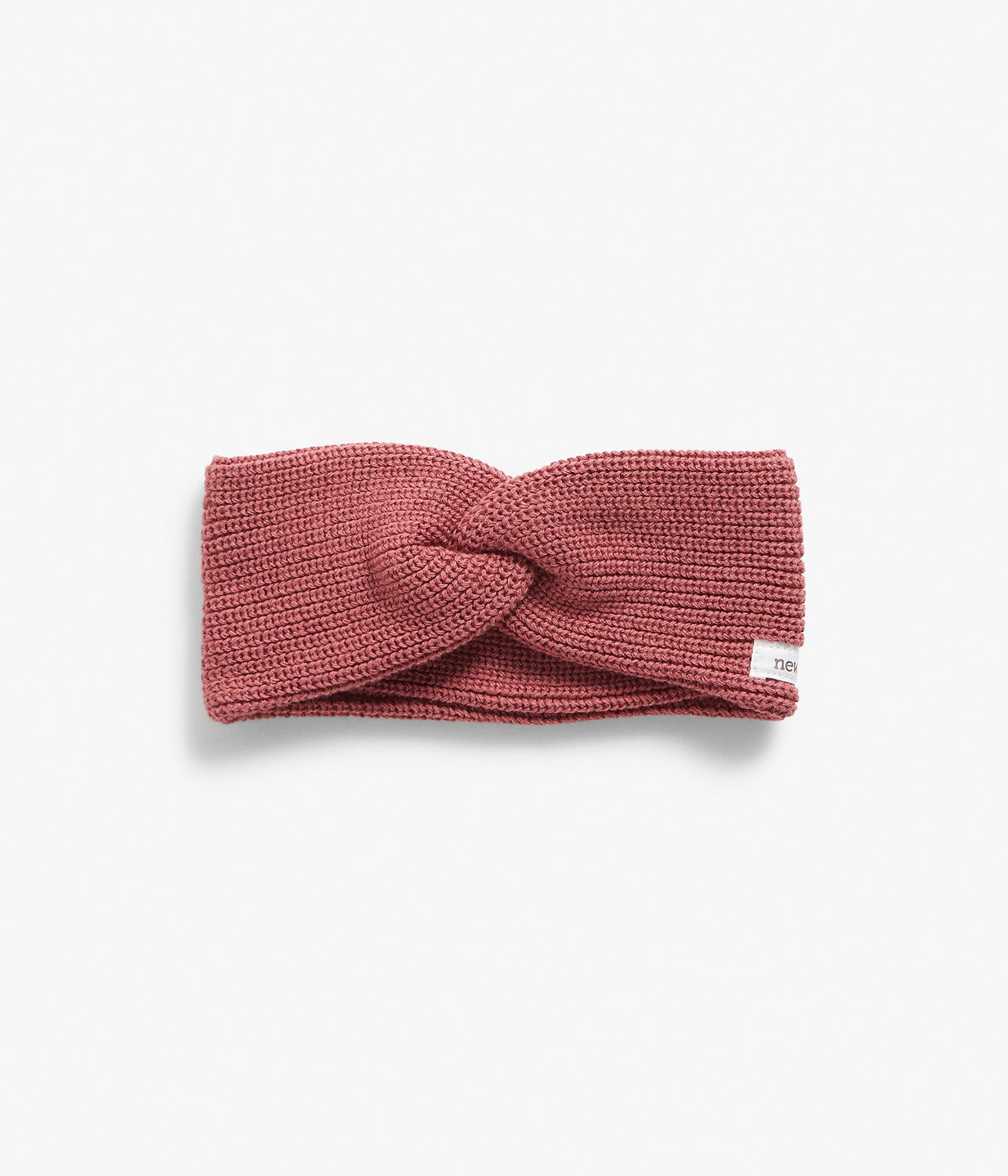 Rose knitted twist headband