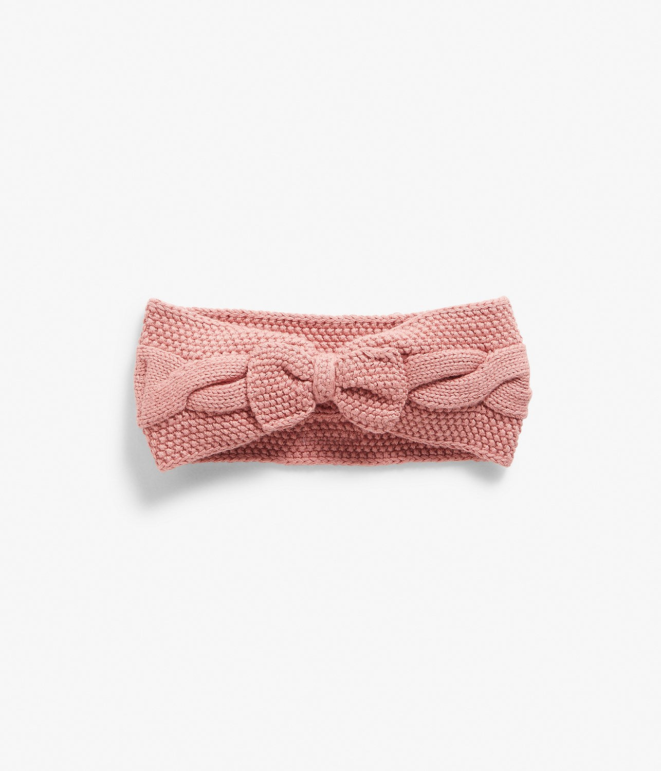 One-size knitted headband with bow