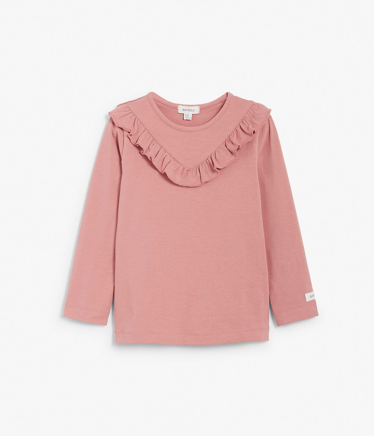 Kids pink top with ruffles