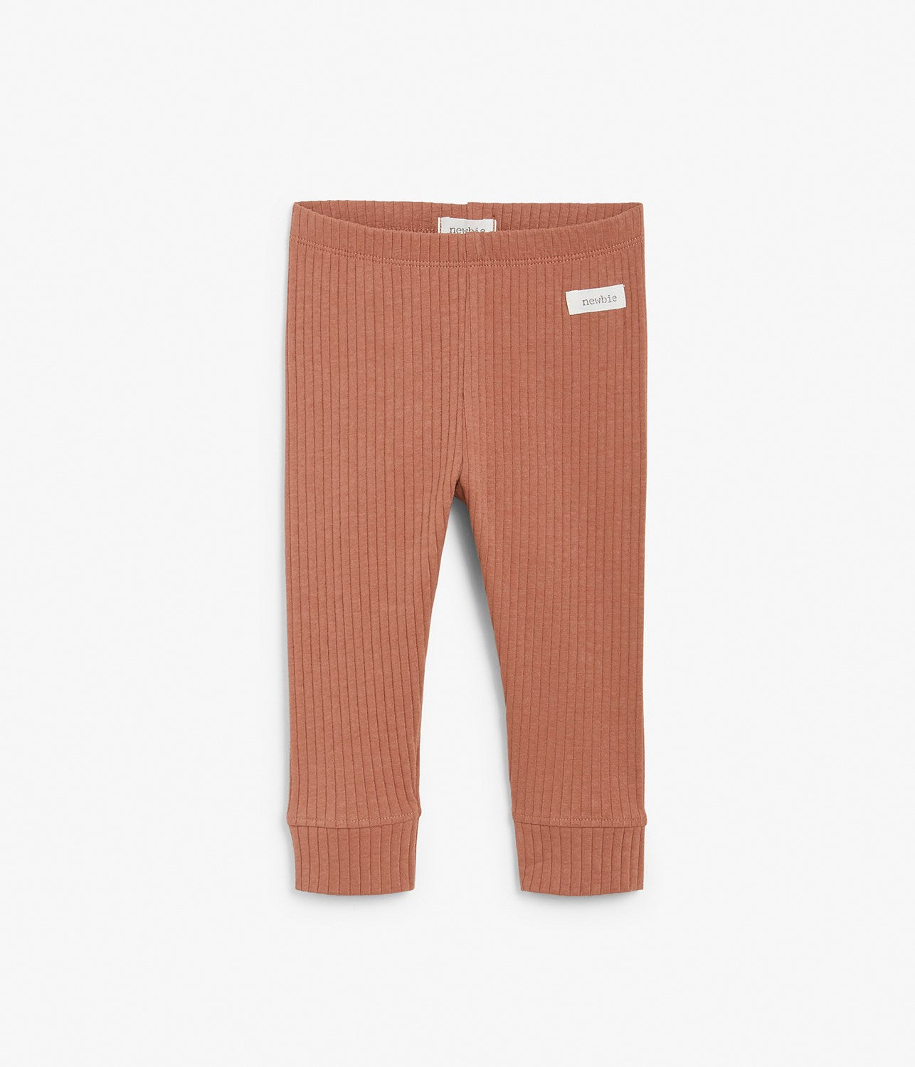 Baby rust ribbed tights