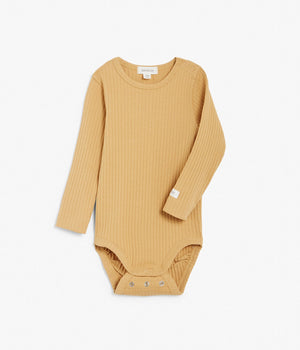 Baby yellow ribbed basic body