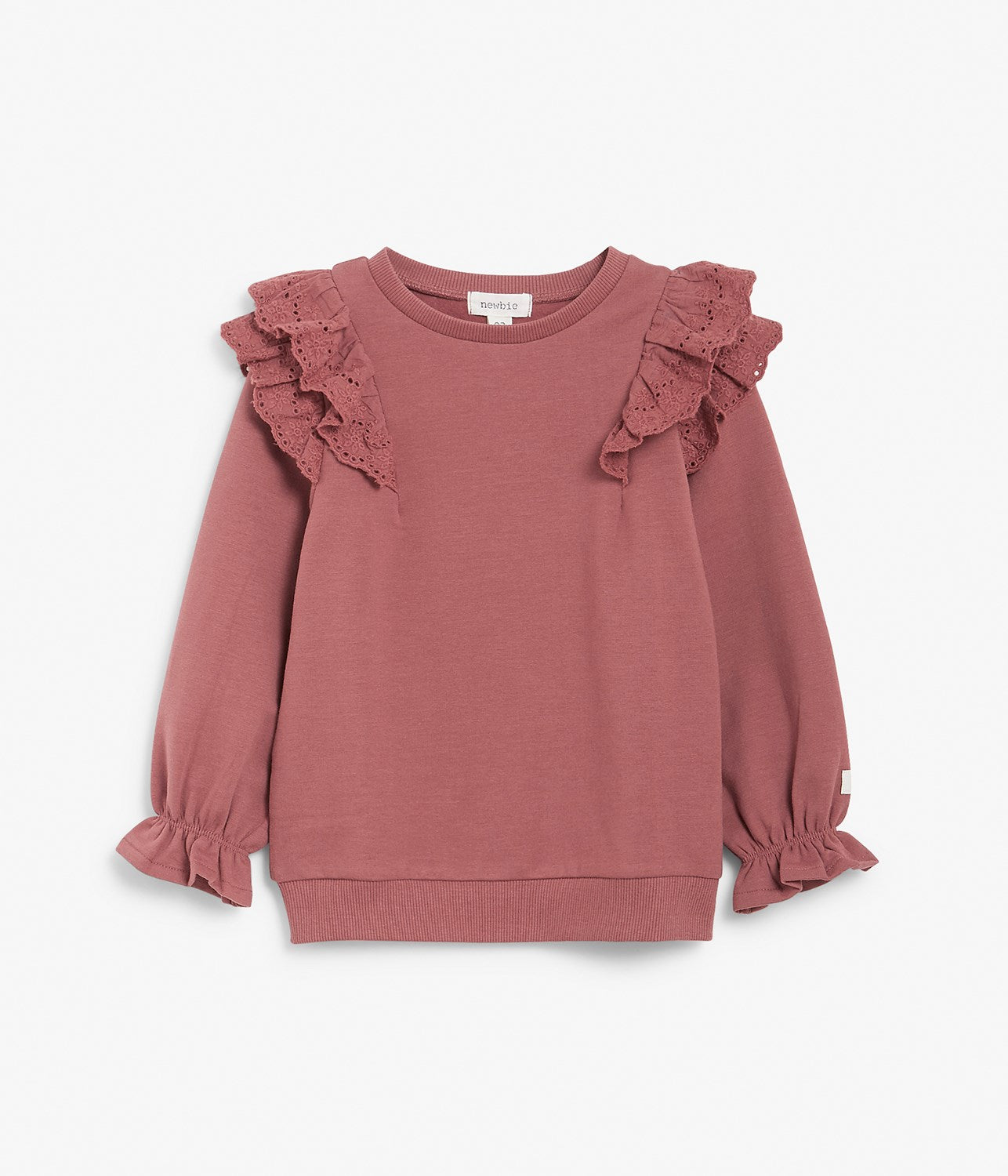 Kids pink sweatshirt with lace