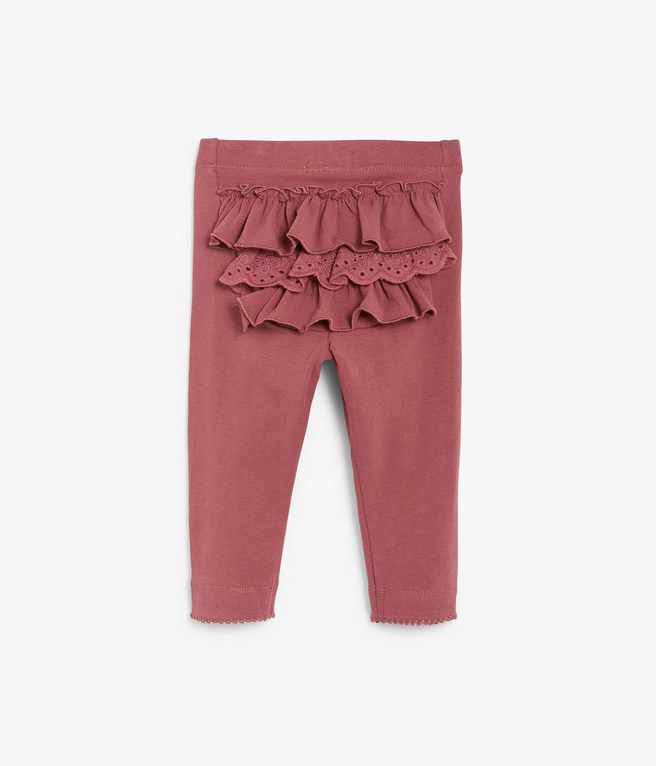 Baby pink legging with ruffles in back
