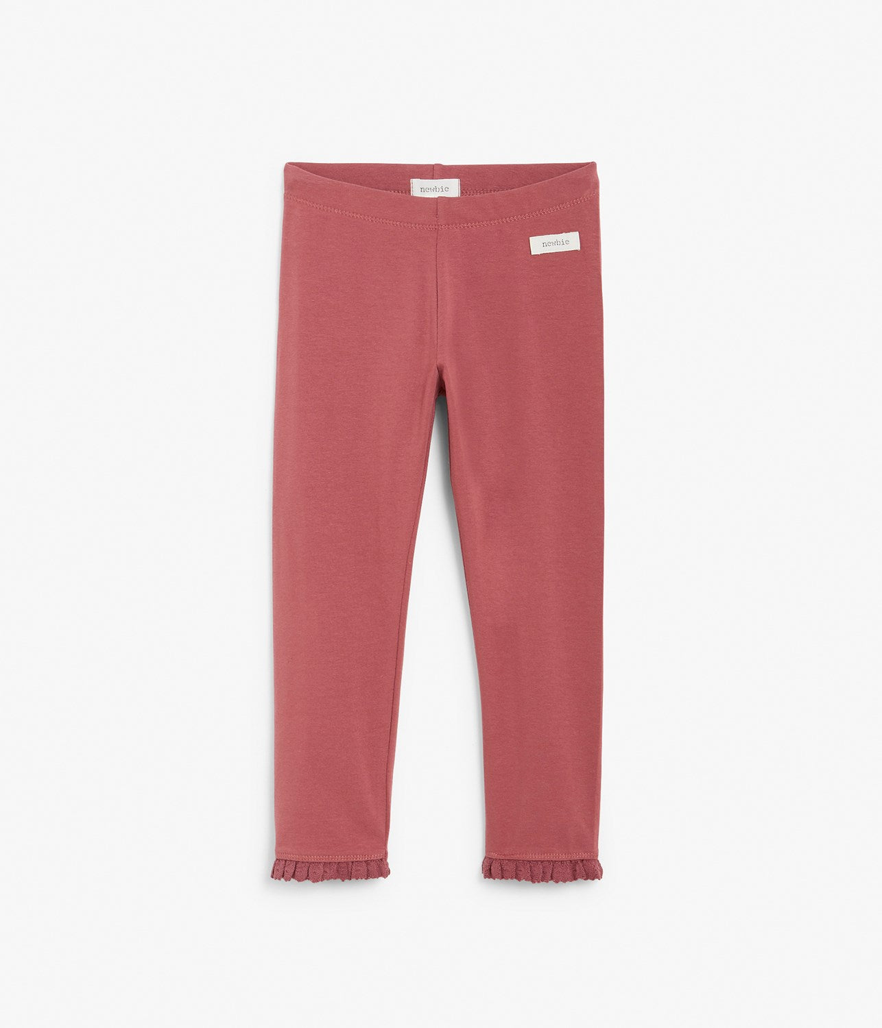 Kids pink leggings with mini frills