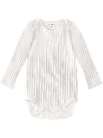 newbie baby Body organic cotton ribbed long sleeves