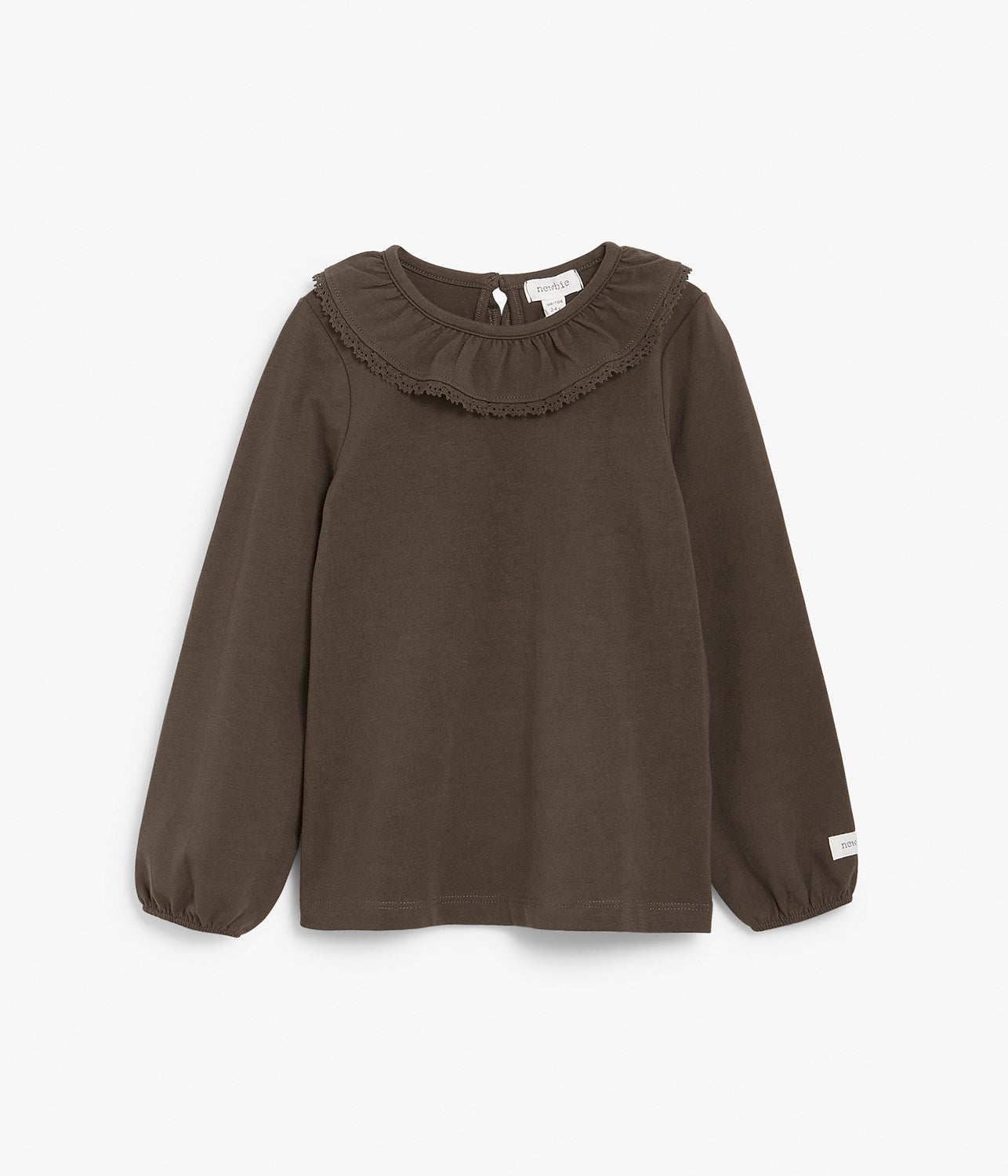 Kids frill collar top with lace