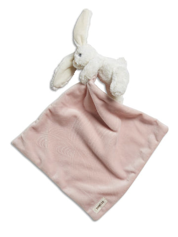 newbie Blanket with attached soft toy bunny pink