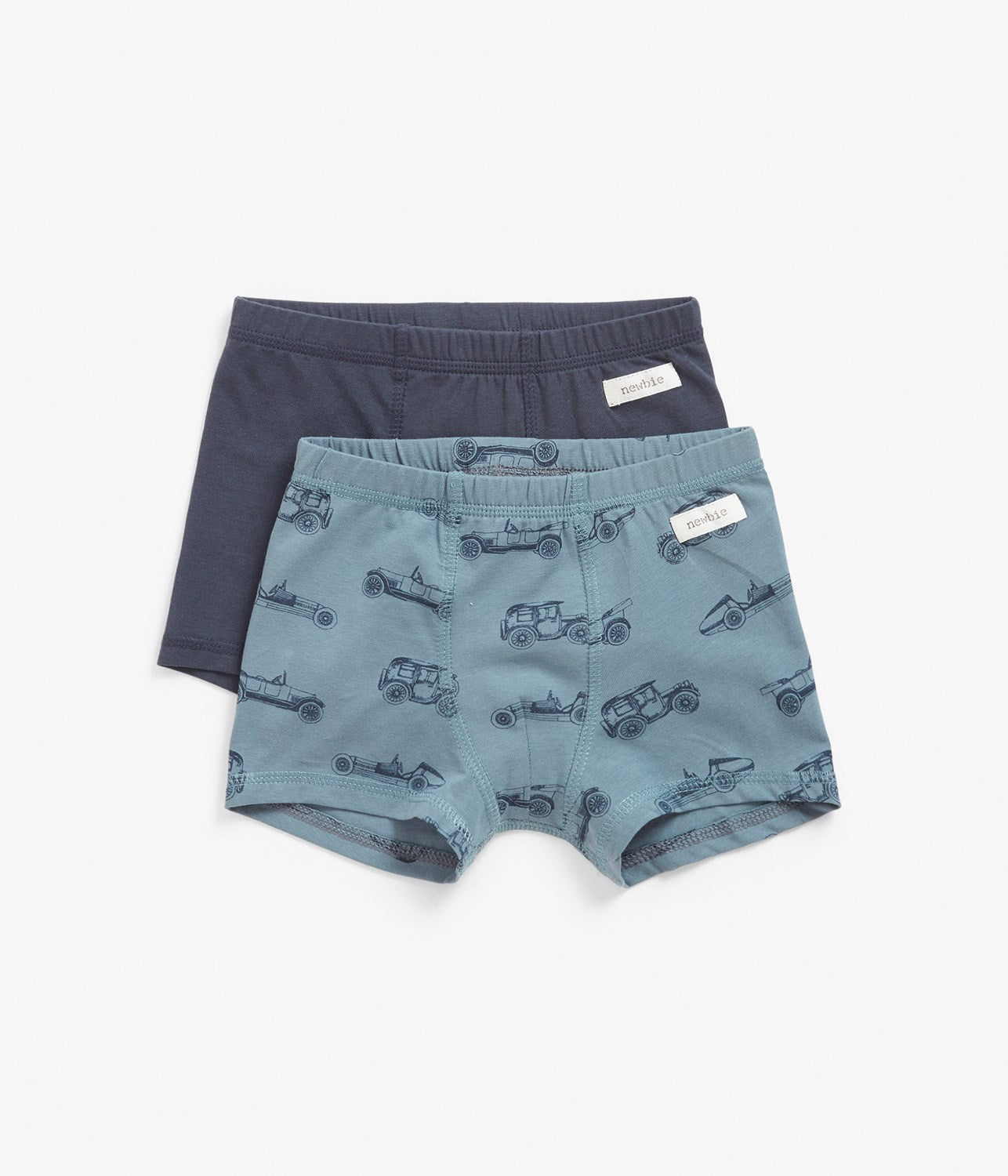 Kids blue car print underwear 2-pack