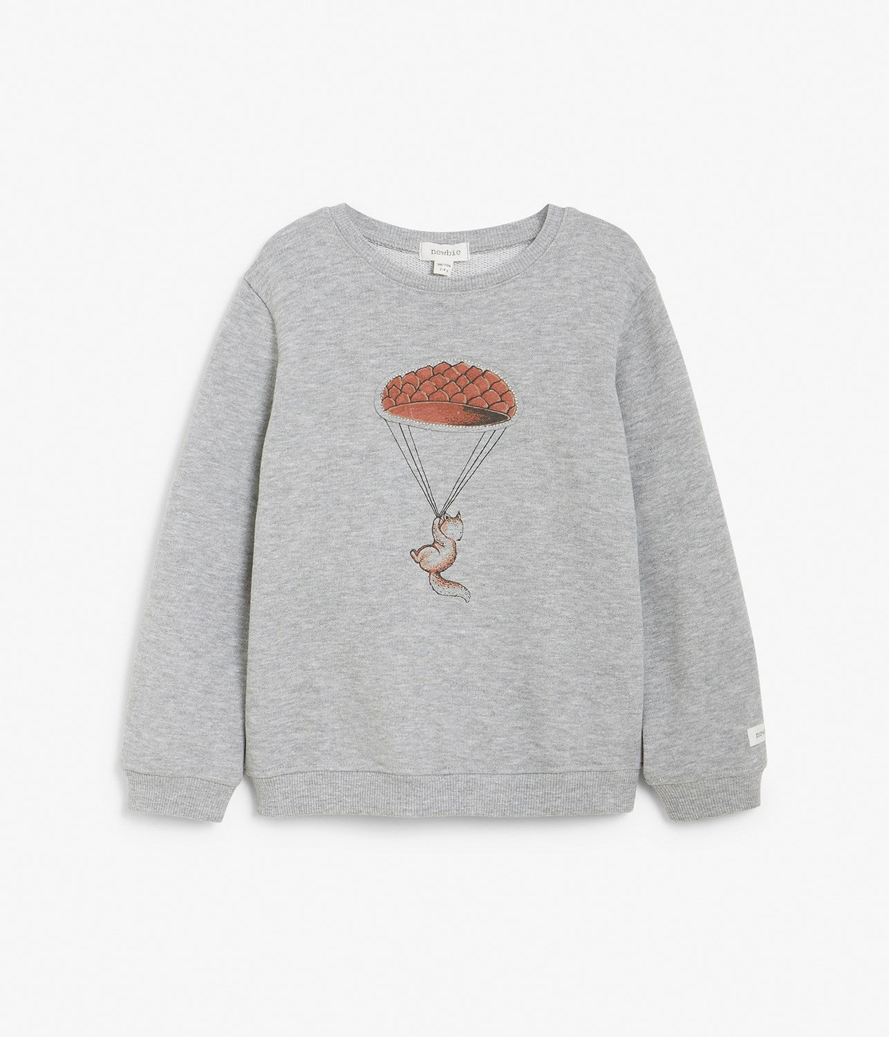 Kids grey sweatshirt with fox and balloon motif