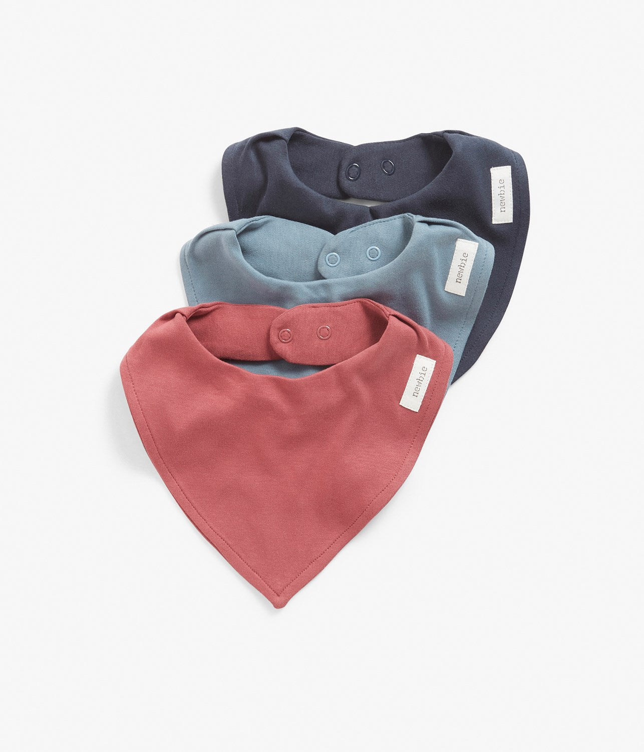 One size blue & red bibs 3-pack