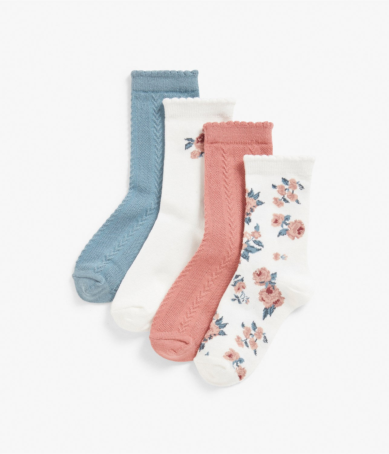 Kids floral print socks 4-pack